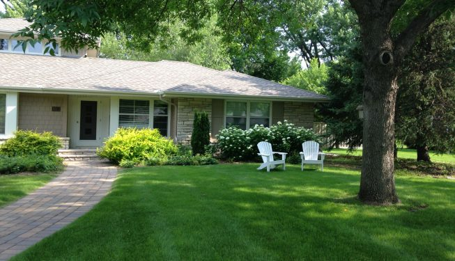 lawn and walkway